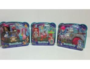 Barbie Enchantimals lalka+ zwierzątka