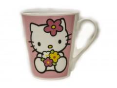 Kubek Hello Kitty z kwiatkami