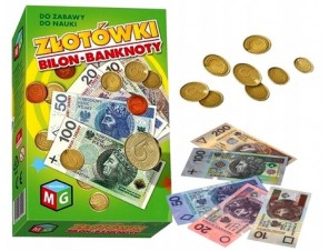 Pieniądze do zabawy złotówki bilon