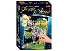 Cekinowy obrazek Zebra***