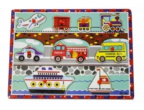 Puzzle drewniane pojazdy /3235/