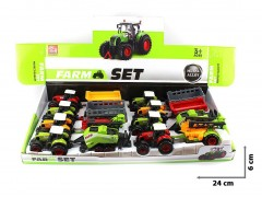 Traktor metal 8szt. box